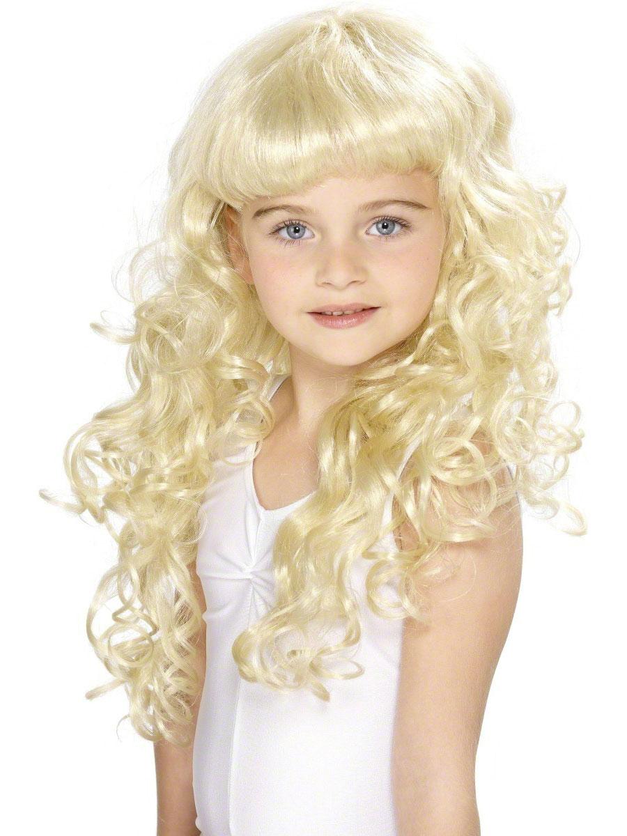 Curly Princess Childrens Blonde Wig 42131 Fancy Dress Ball
