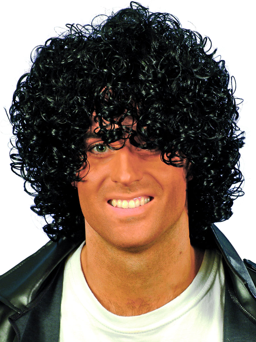 Adult Wet Look Afro Wig 42032 Fancy Dress Ball