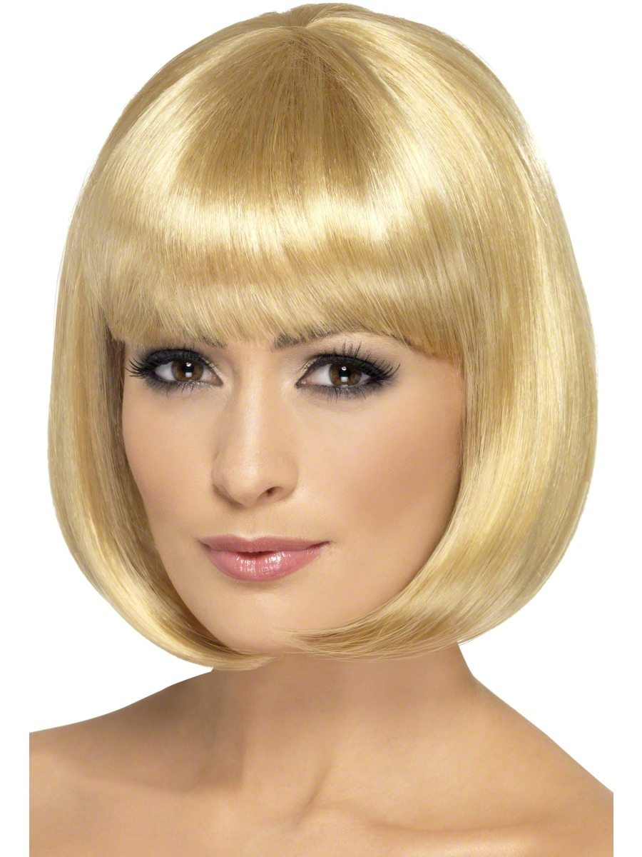 Blonde Bob Wig Fancy Dress 110