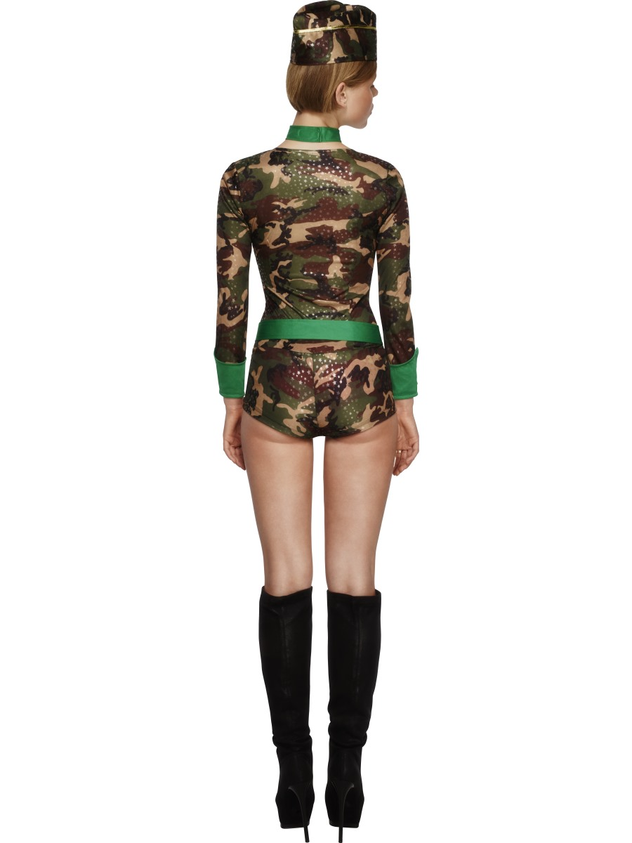 Adult Deluxe Combat Chick Army Costume 30819 Fancy