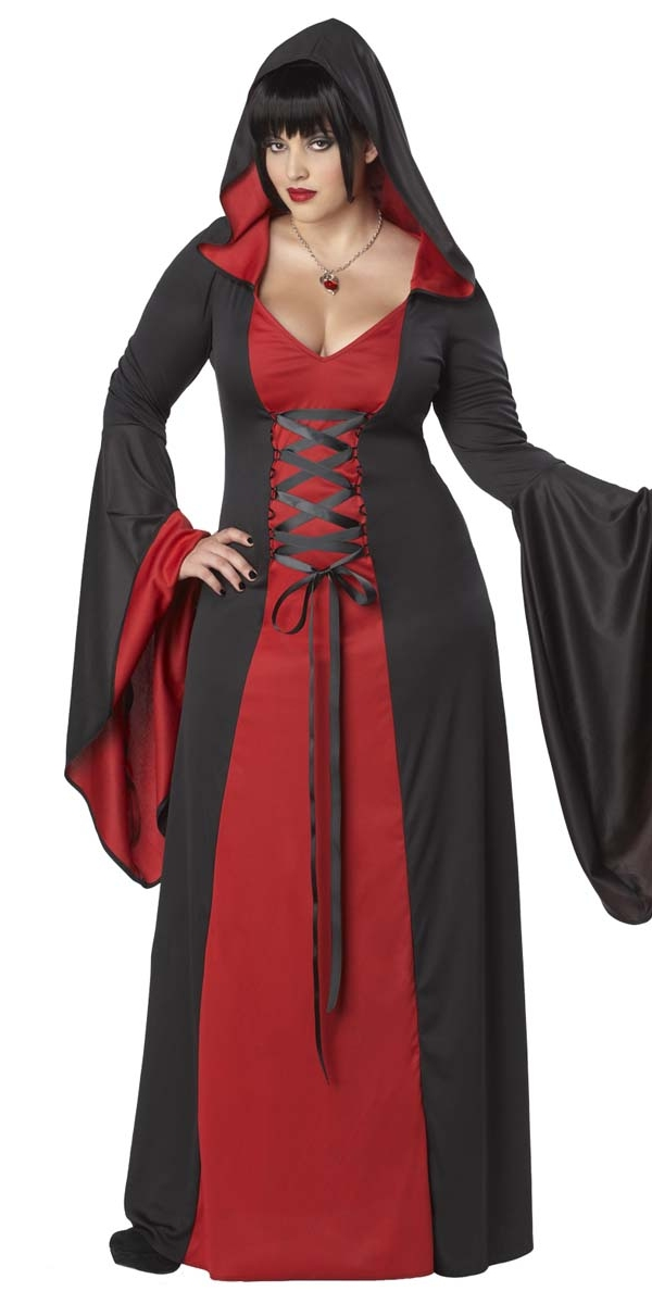 Adult Plus Size Deluxe Hooded Robe 01703 Fancy Dress Ball