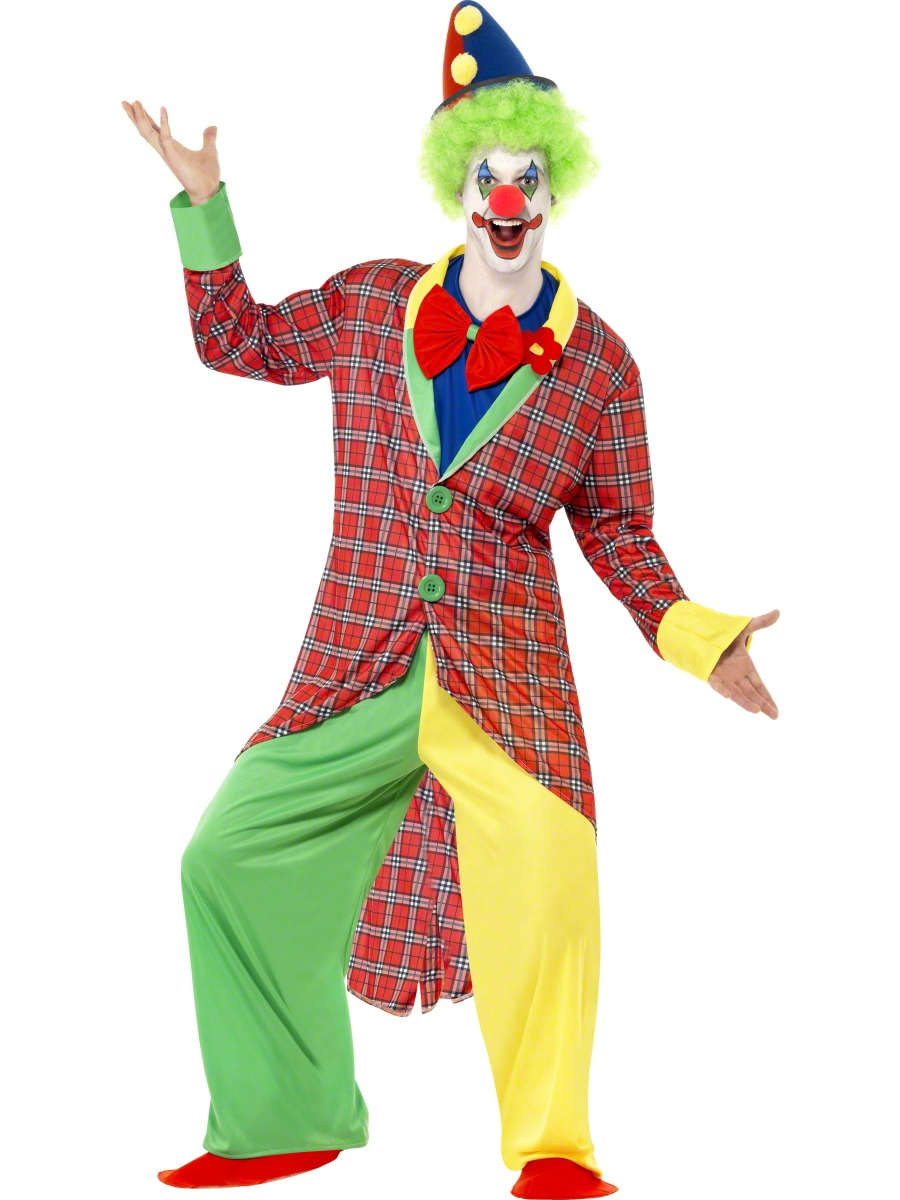 Adult deluxe la circus clown costume 39340 fancy dress for Disfraces de circo