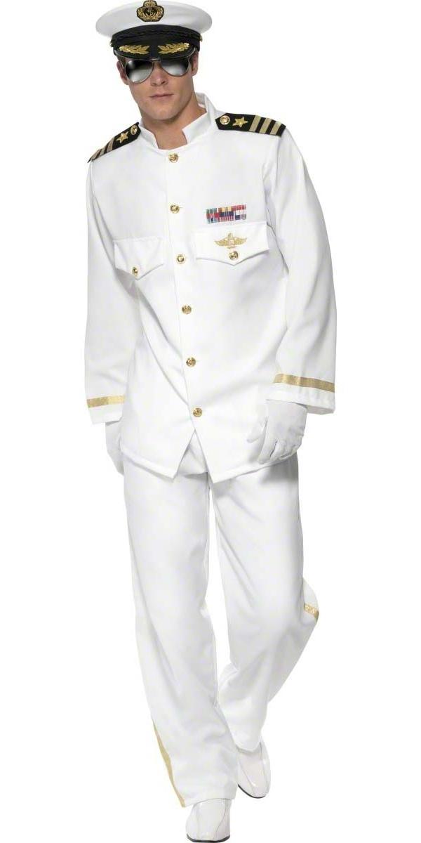 adult deluxe mens navy captain costume 33690 fancy dress ball. Black Bedroom Furniture Sets. Home Design Ideas