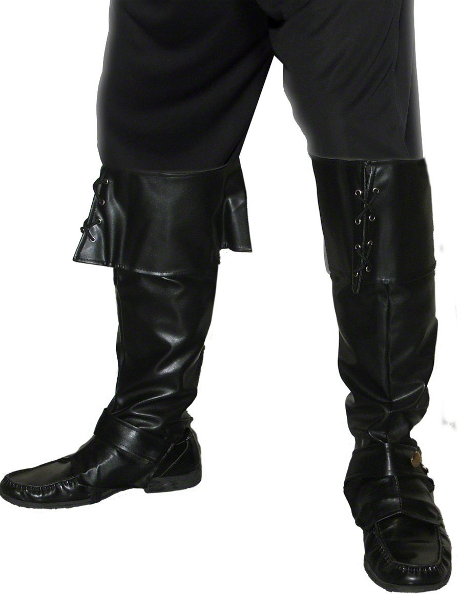 Ladies Thigh High PVC Boot Covers Hen Do Fancy Dress Costume Outfit Accessory