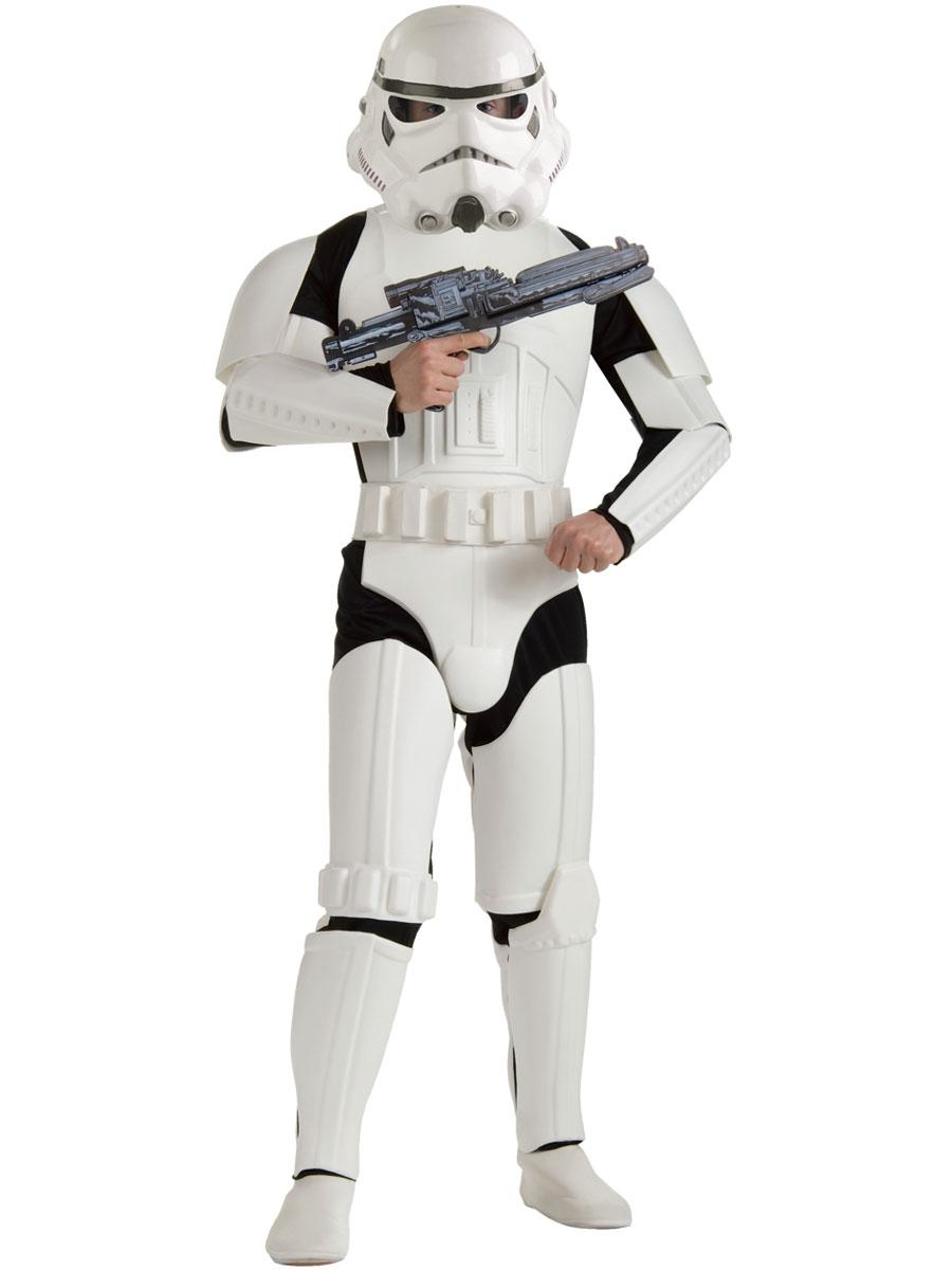 adult deluxe stormtrooper star wars costume - 888572 - fancy dress ball