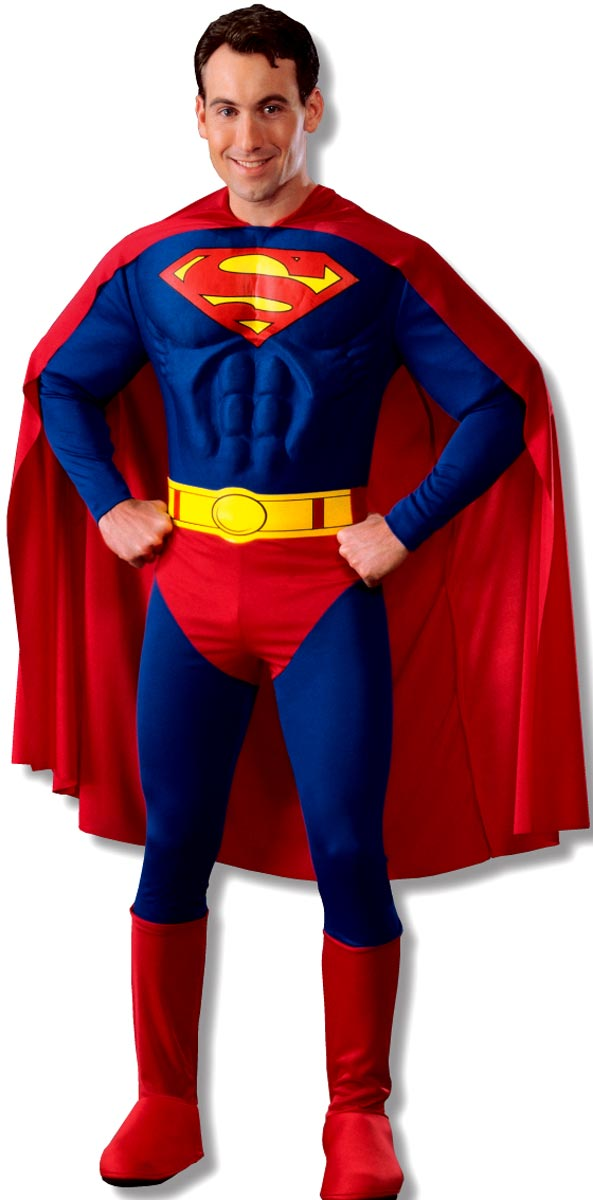 Adult Deluxe Superman Muscle Chest Costume