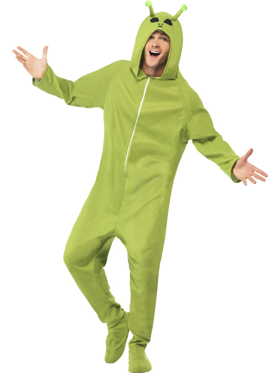 Adult alien onesie costume 55004 fancy dress ball
