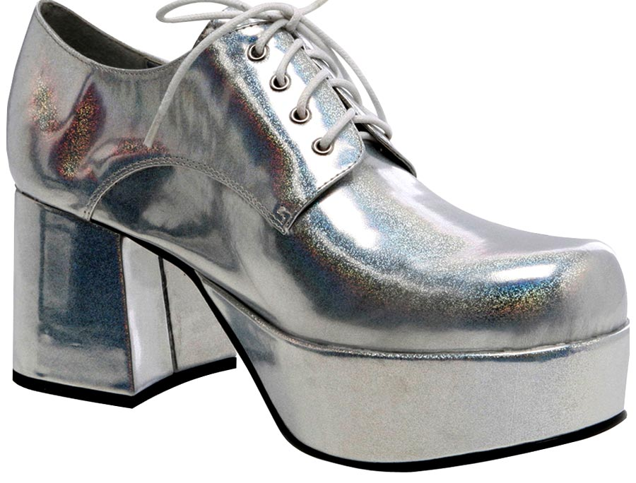 disco shoes silver