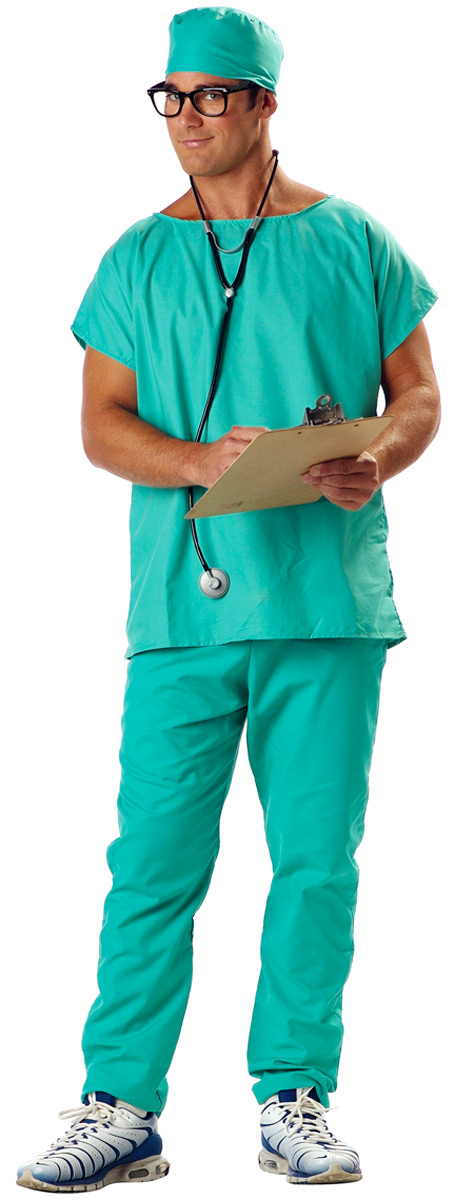 198e82a65bf Doctor Scrubs Costume & Adult Doctor Scrubs Costume Sc 1 St Fancy ...