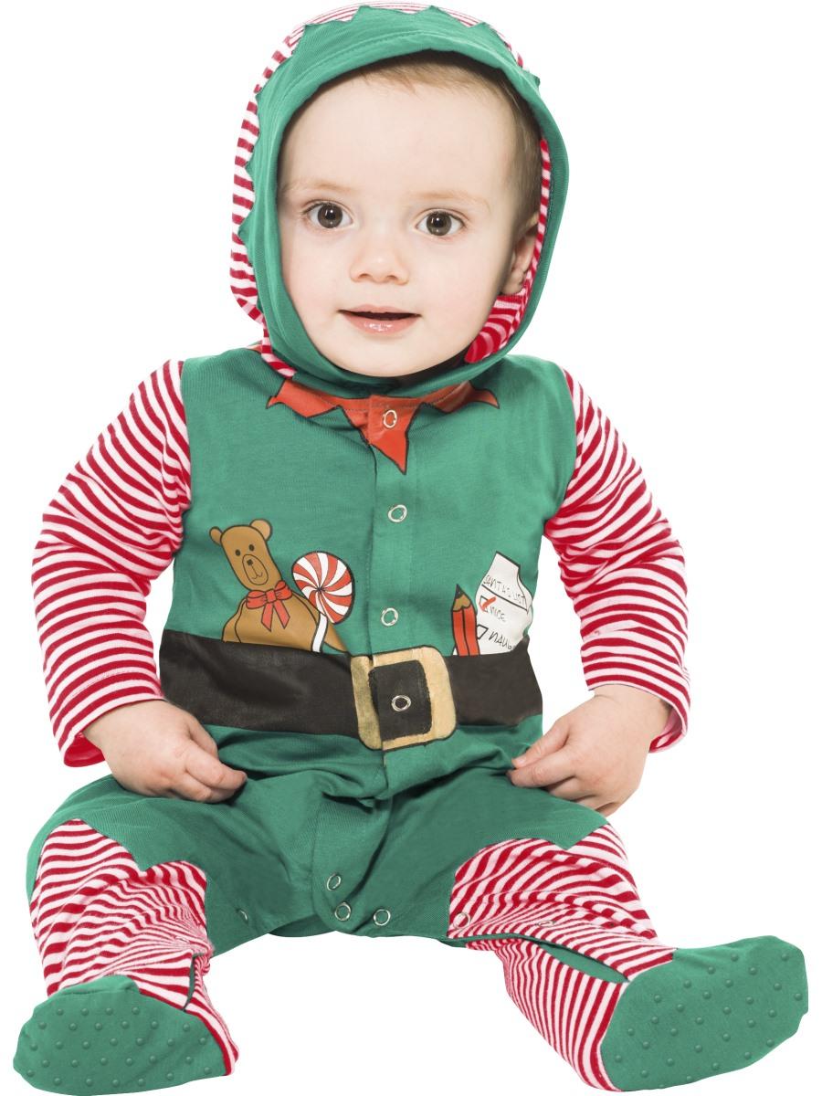 Baby Boys Girls Christmas Santa Elf Costume Romper Bodysuit Jumpsuit Outfit Xmas.