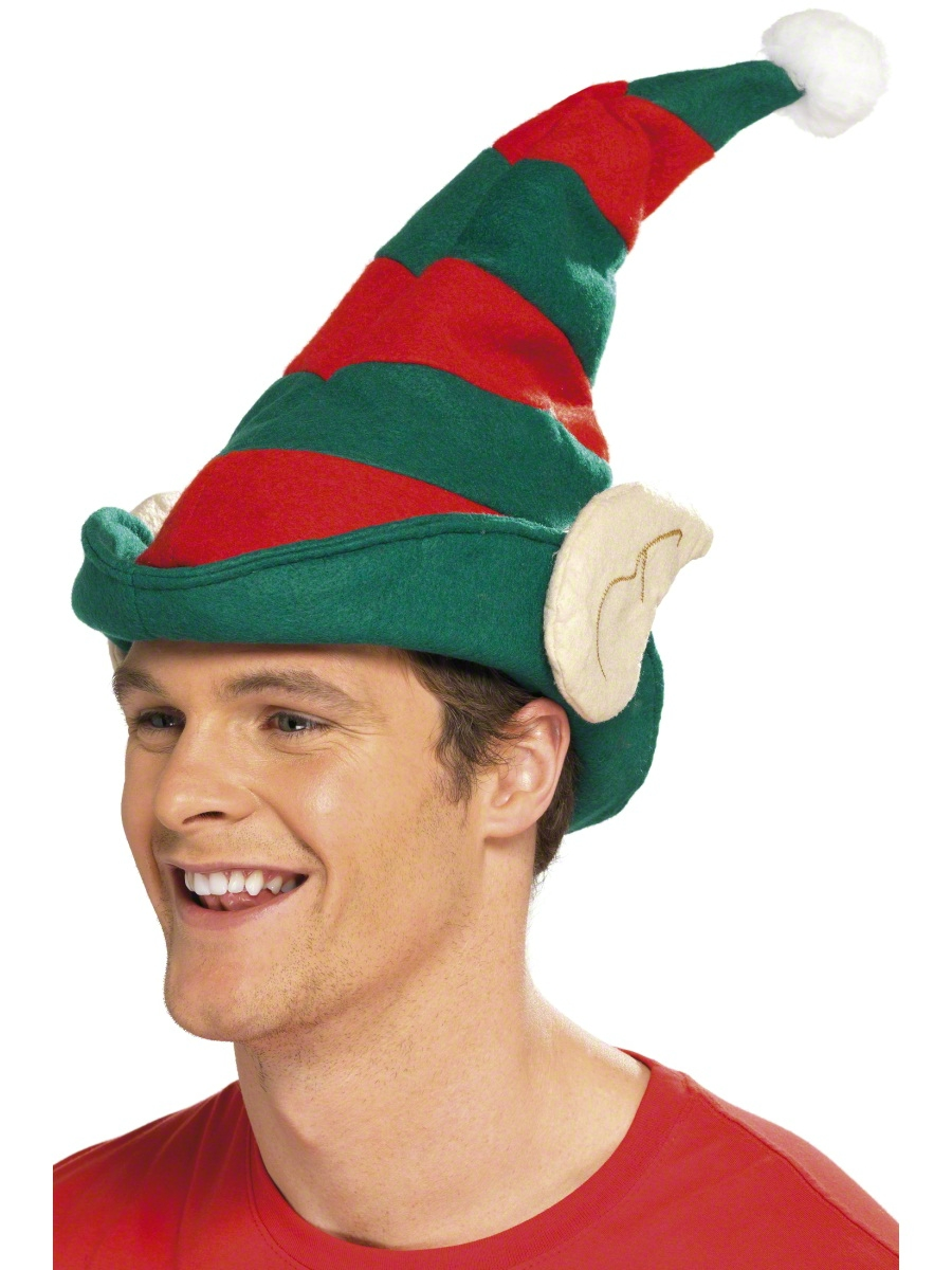 3560f76787b9d Elf Hat Green With Red Stripes