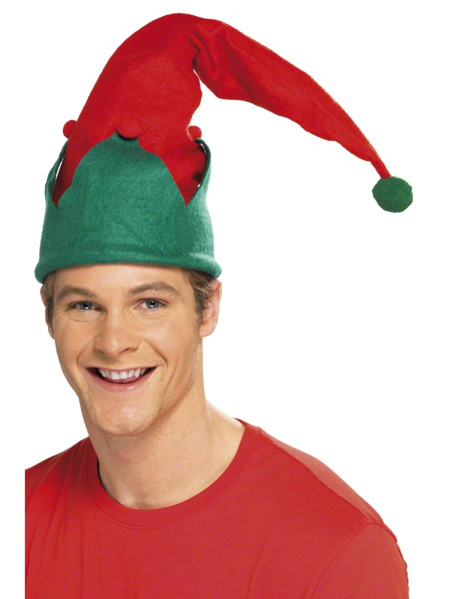elf hat red green 24494 fancy dress ball