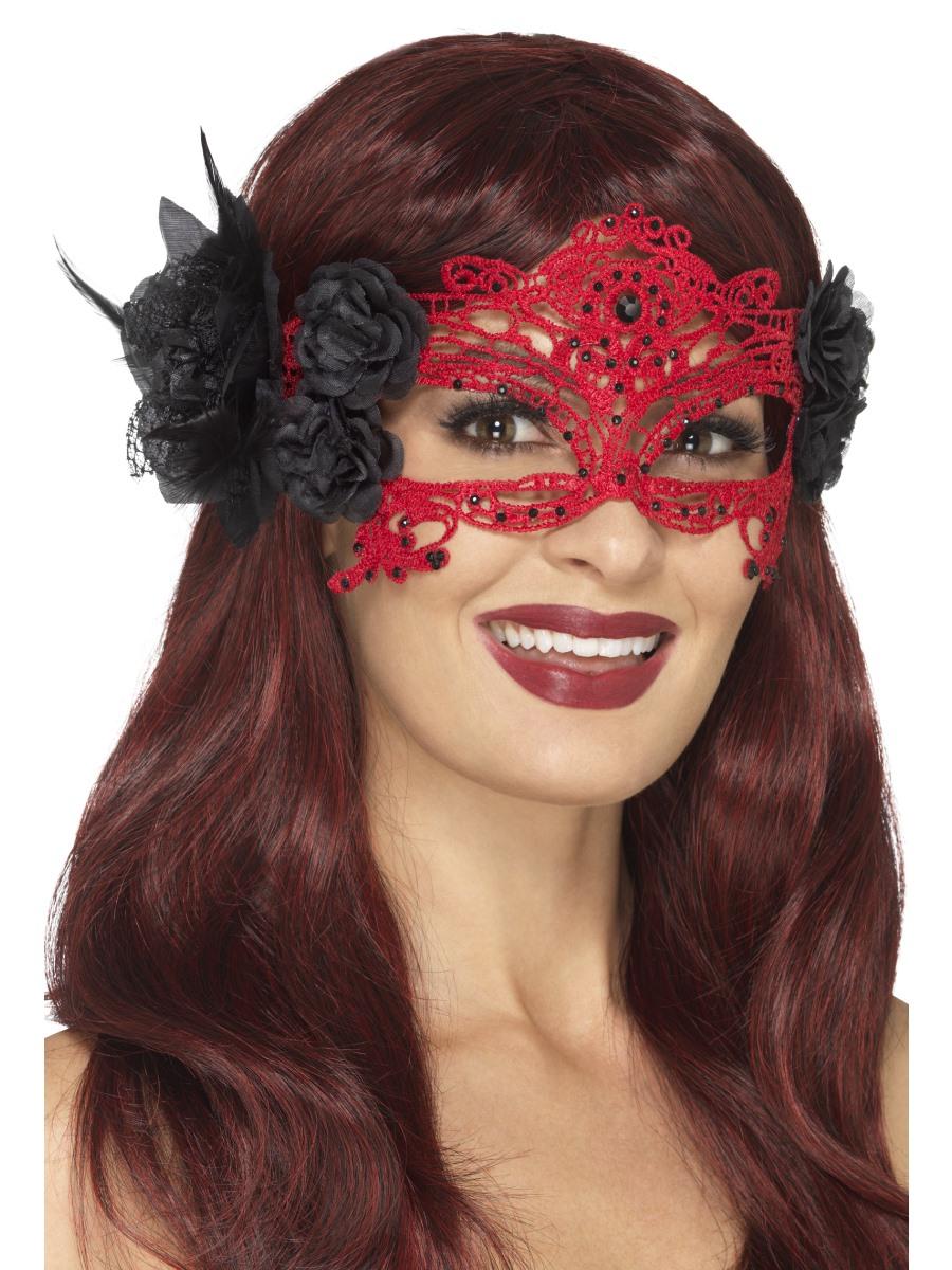 Ladies Embroidered Lace Filigree Eye Mask Venetian Masquerade Masked Ball Mask