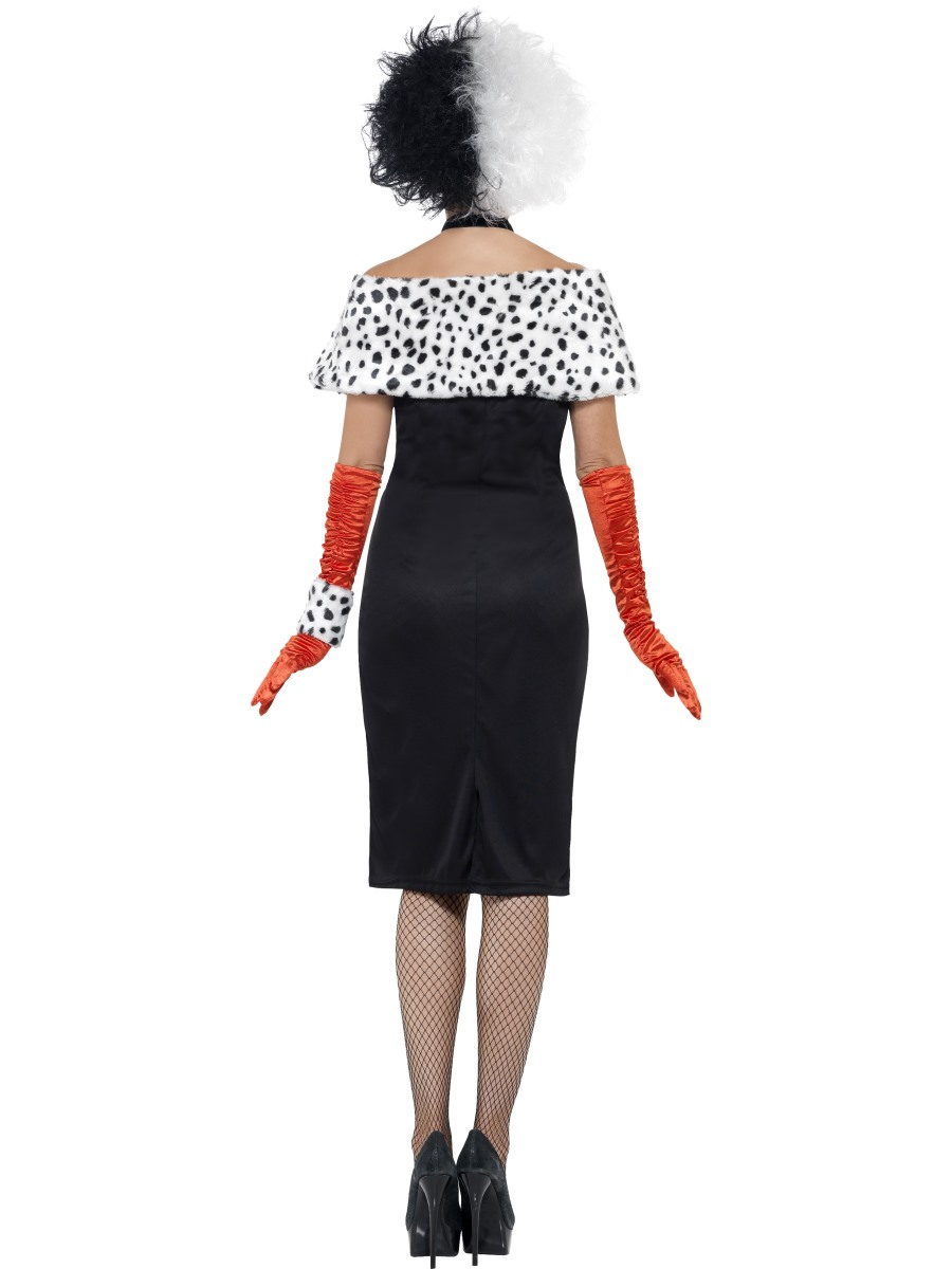 adult evil madame cruella costume 32806 fancy dress ball. Black Bedroom Furniture Sets. Home Design Ideas