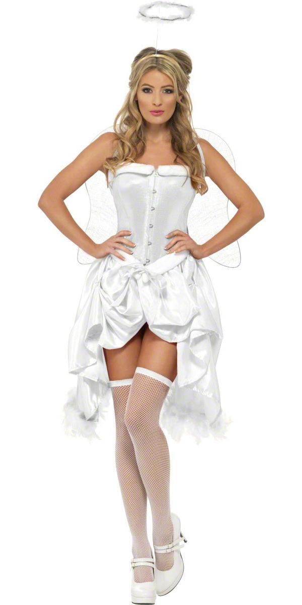 Fever Angel Baby Burlesque Costume - 32052 - Fancy Dress Ball