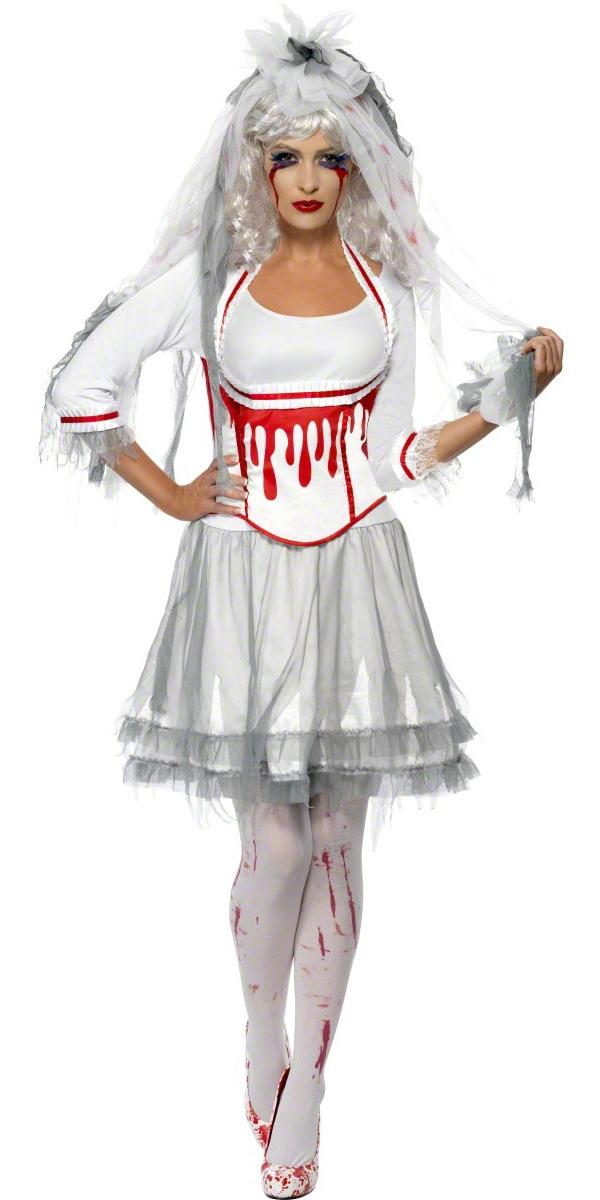adult fever blood drip bride costume 38890 fancy dress. Black Bedroom Furniture Sets. Home Design Ideas
