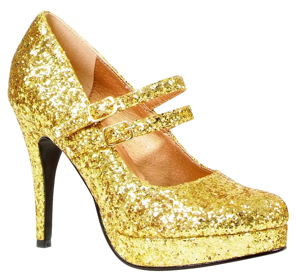 gold glitter shoe 421 g fancy dress