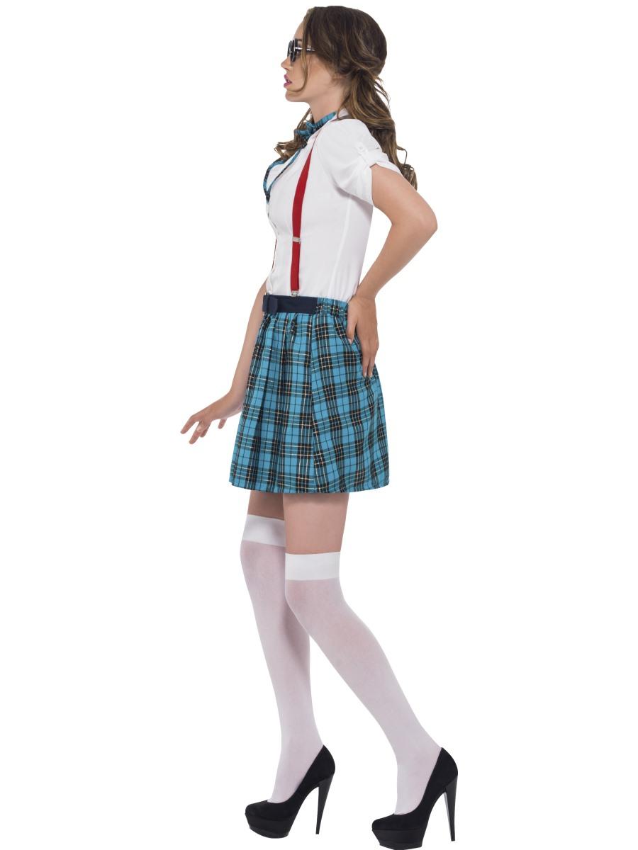 Adult Geek School Girl Costume - 41040 - Fancy Dress Ball