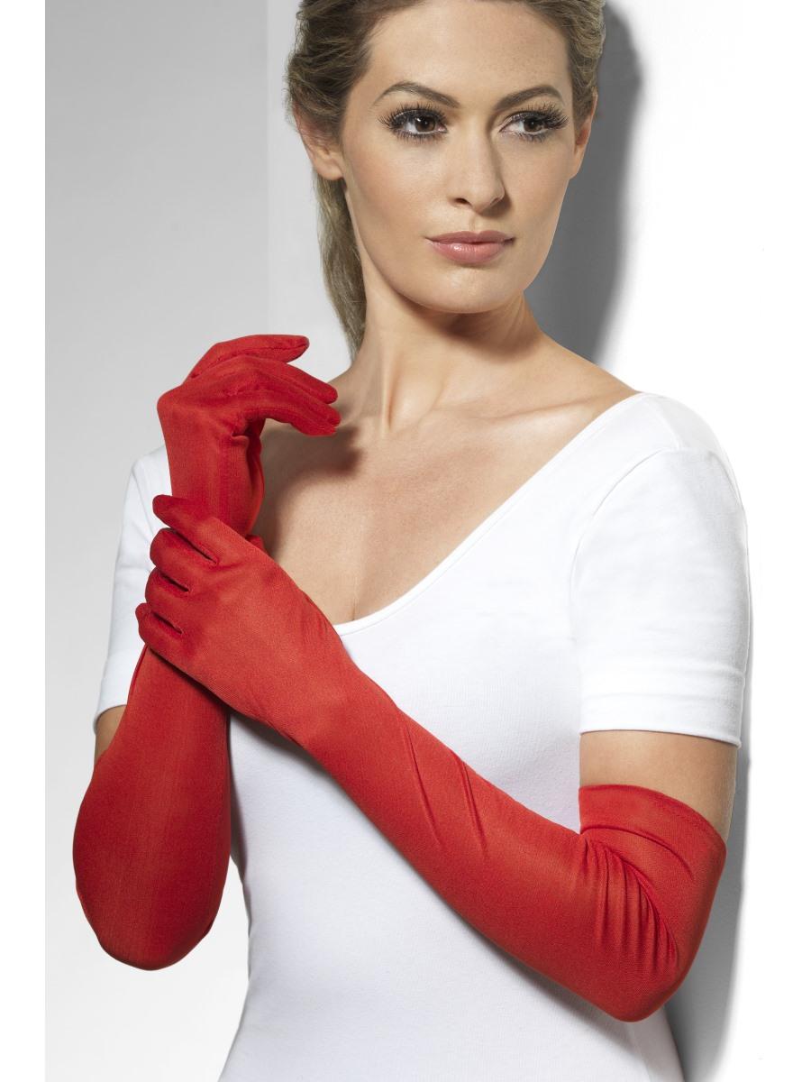 Fever Long Red Gloves - 44038 - Fancy Dress Ball