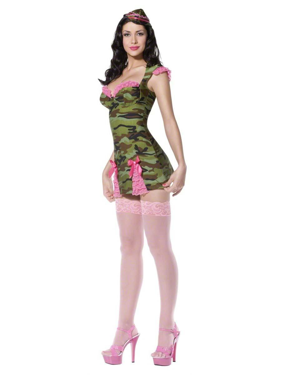 58cbac3f Adult Fever Pin Up Camo Cutie Costume