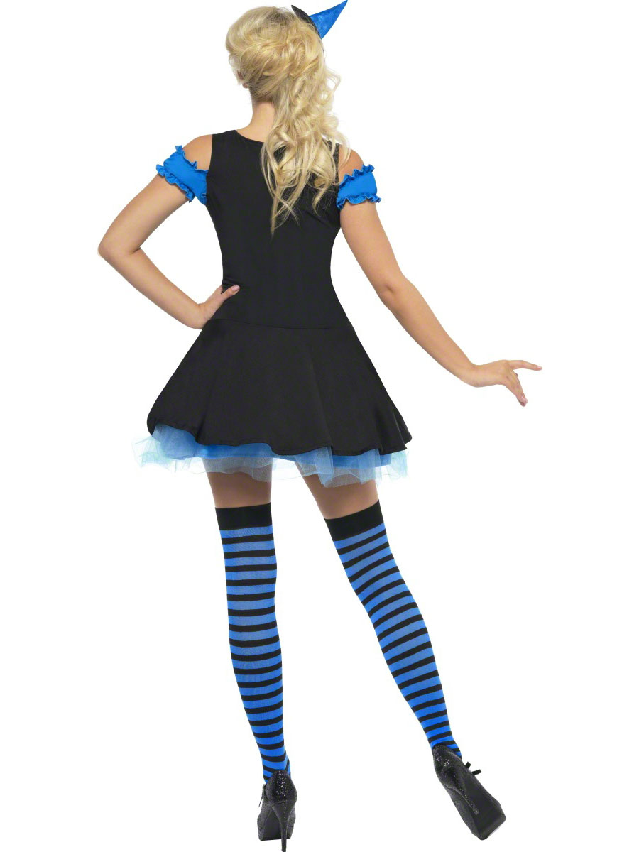Adult Fever Wicked Witch Blue Costume - 30888 - Fancy Dress Ball
