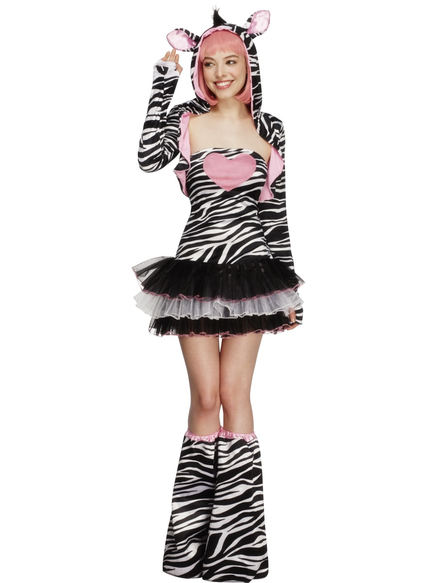 Adult Fever Zebra Costume Couples Costume  sc 1 st  Fancy Dress Ball & Adult Zebra Onesie Costume - 55003 - Fancy Dress Ball