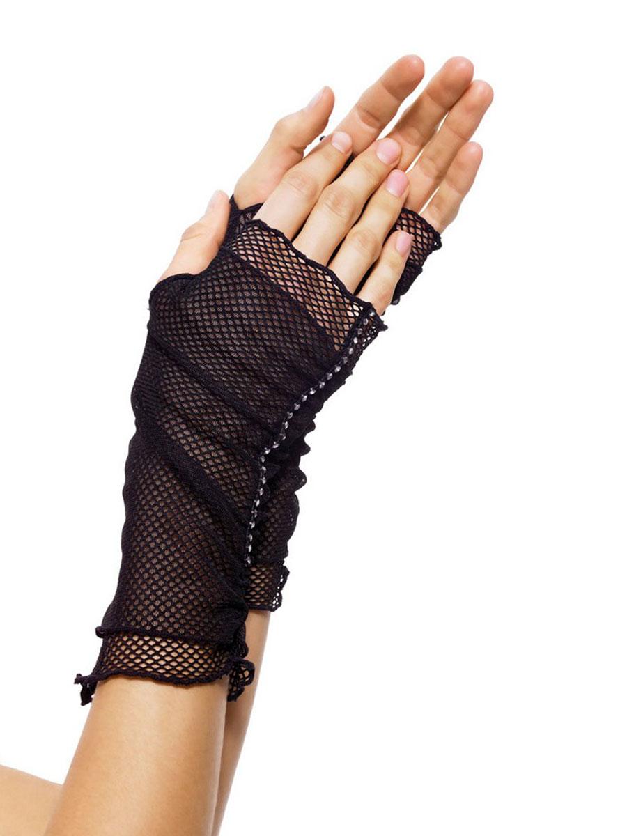 Fishnet Fingerless Gloves 2011 Fancy Dress Ball