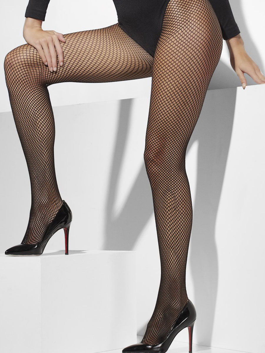 Fishnet Tights Black Plus Size 42726 Fancy Dress Ball