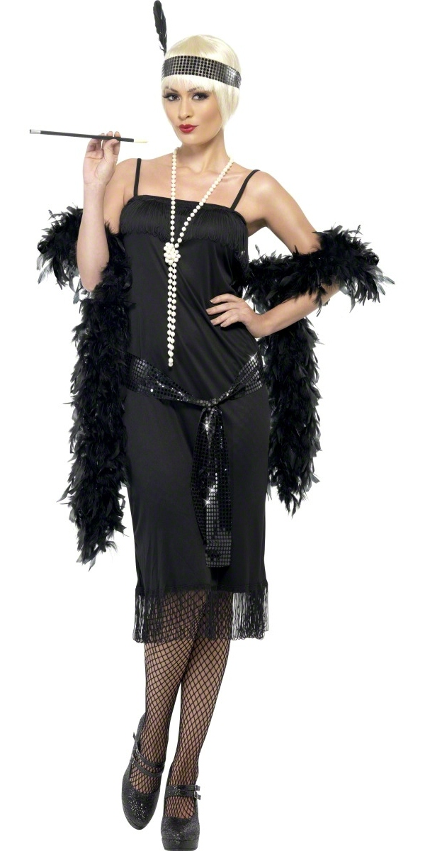 Adult flappers dress black 28605 fancy dress ball - Deguisement gatsby homme ...