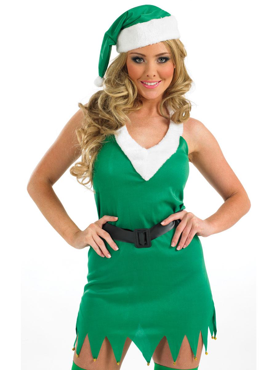 Adult flirty elf costume fs fancy dress ball