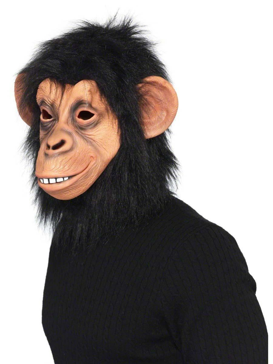 Full Overhead Chimp Mask - 39507 - Fancy Dress Ball