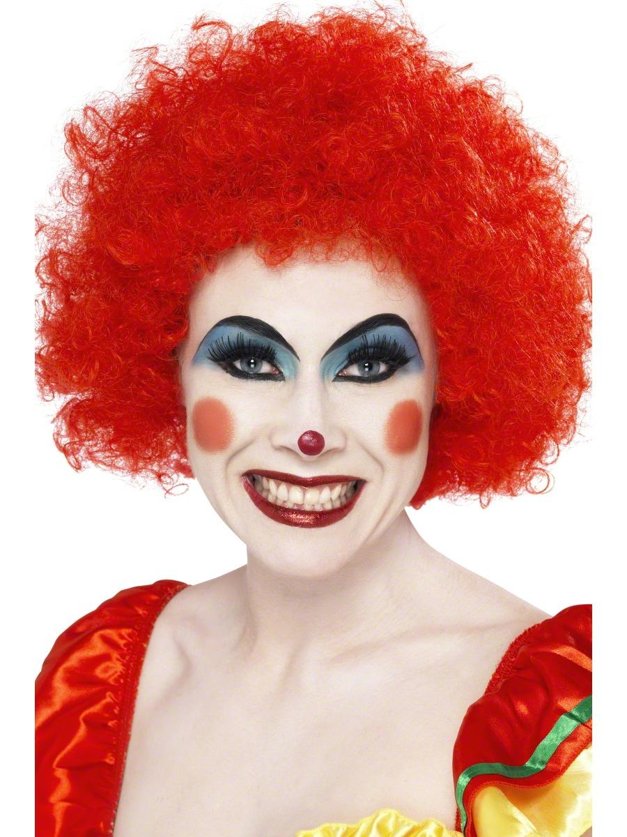 crazy clown wig red 42089 fancy dress ball. Black Bedroom Furniture Sets. Home Design Ideas