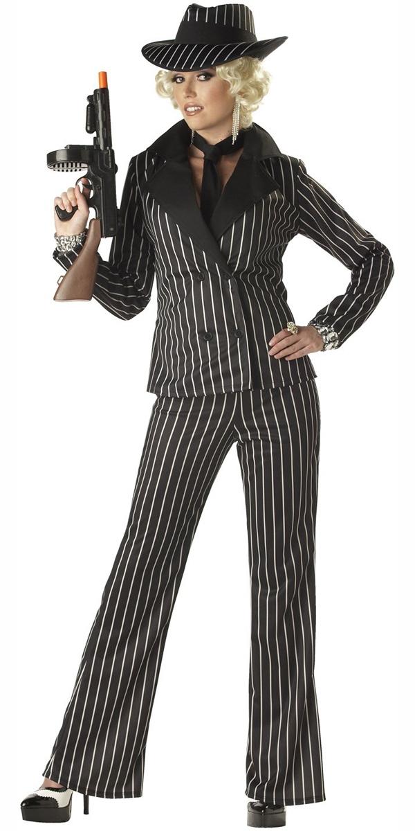 Beautiful Gangster Woman Costume  Fancy Dress Forever