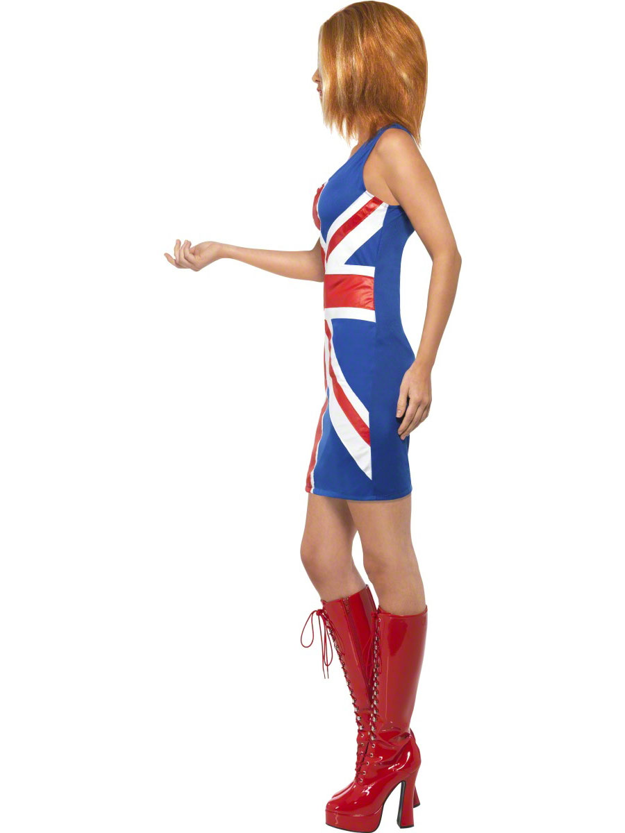 Union Jack Glam Girl Ginger Spice Girls Inspired Adult Costume