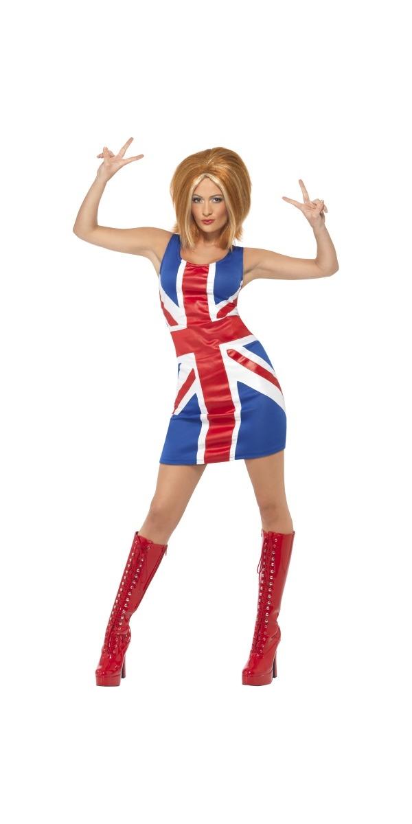 Adult Ginger Spice Girl Union Jack Costume - 29540 - Fancy ...