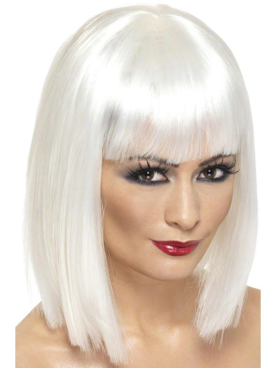 Glam Wig White Short 42144 Fancy Dress Ball