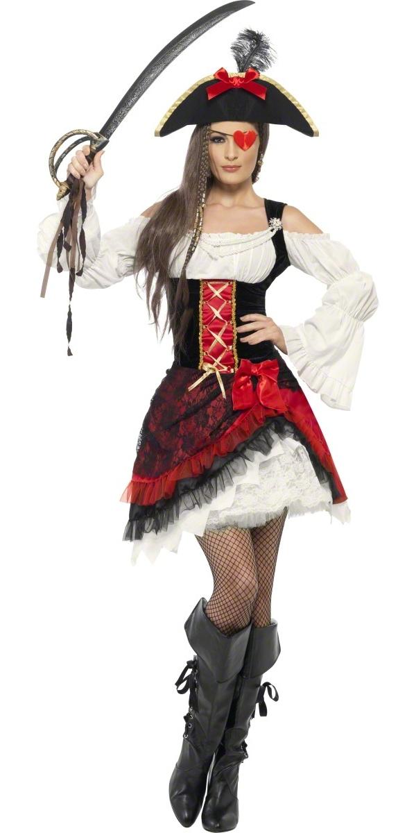Adult Glamorous Lady Pirate Costume 23281 Fancy Dress Ball