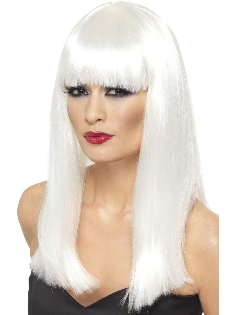 Glamourama Wig White 42165 Fancy Dress Ball
