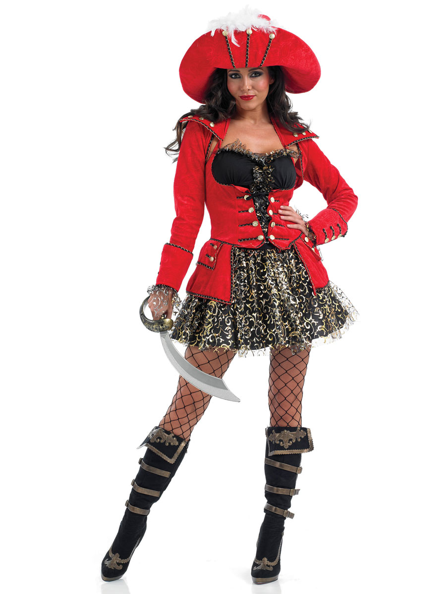 LADIES PIRATE COSTUME BUCCANEER SHIPMATE CAPTAIN CARIBBEAN FANCY DRESS OUTFIT