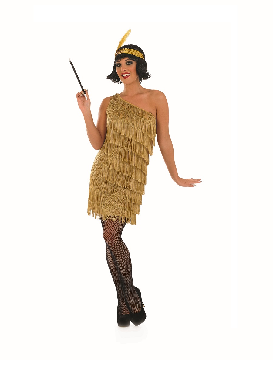 ... fancy dress flapper fancy dress adult gold flapper dress costume