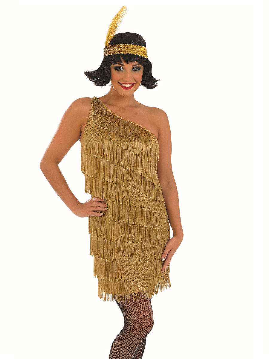 Adult Gold Flapper Dress Costume · VIEW FULL IMAGE  sc 1 st  Fancy Dress Ball & Adult Gold Flapper Dress Costume - FS3622 - Fancy Dress Ball