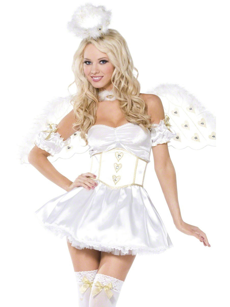 Golden heart angel 5piece costume 33056 fancy dress ball