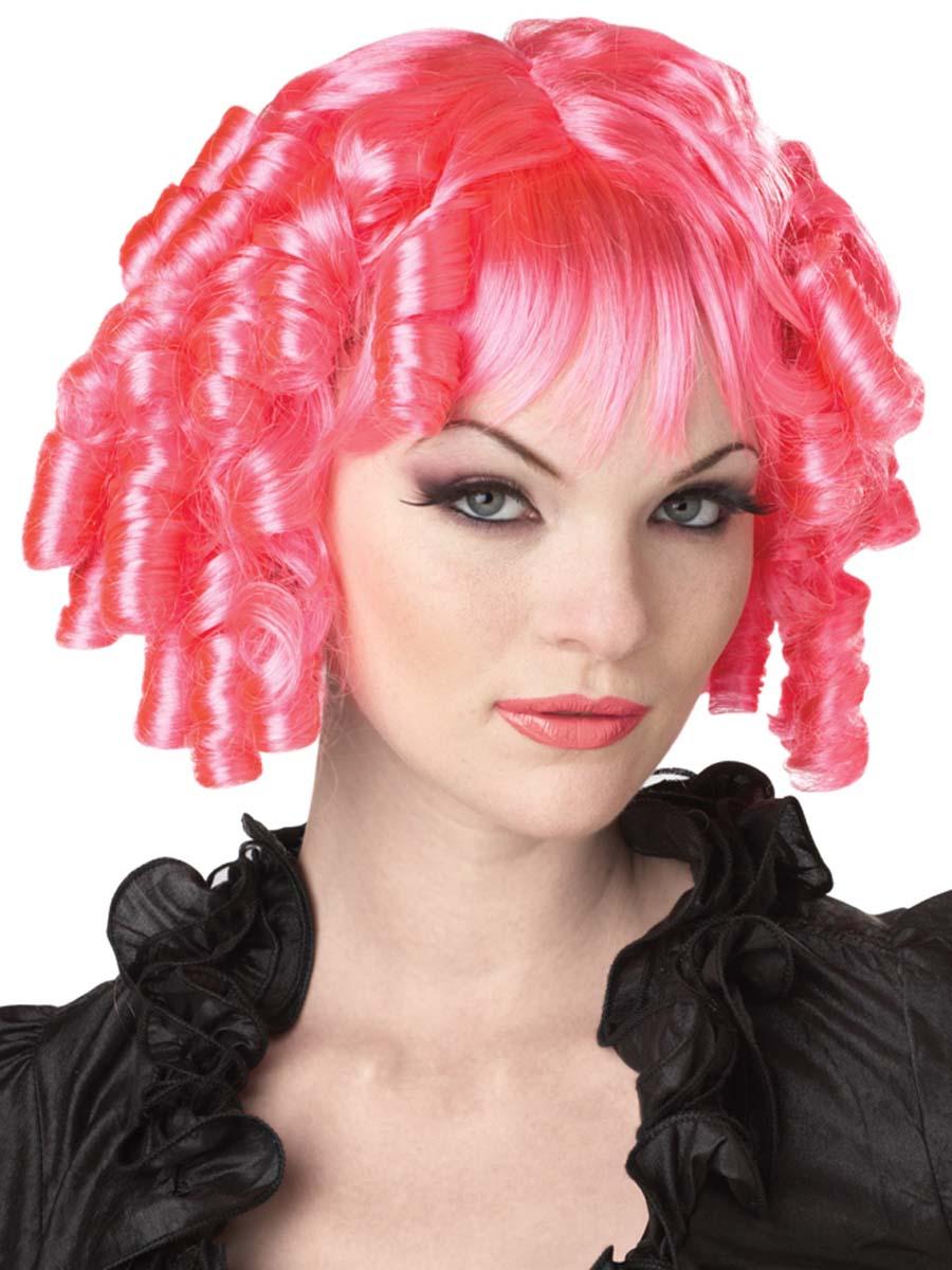 Gothic Doll Hot Pink Wig 70025 Fancy Dress Ball