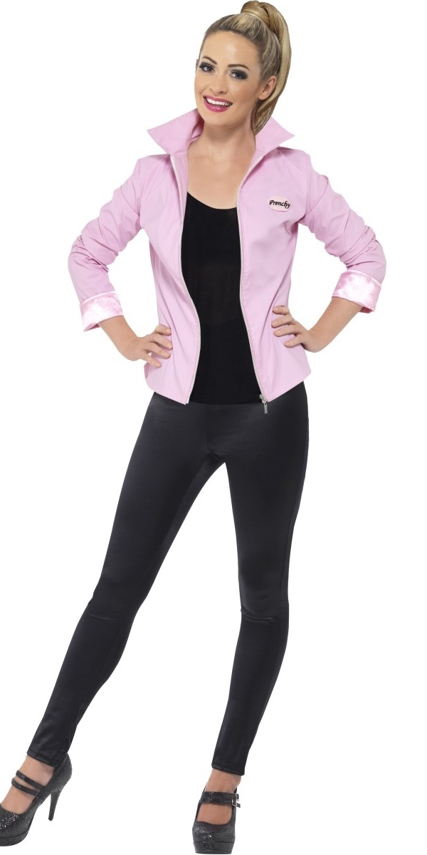 Dress gt Ladies Grease Costumes gt Grease Deluxe Pink Lady Jacket