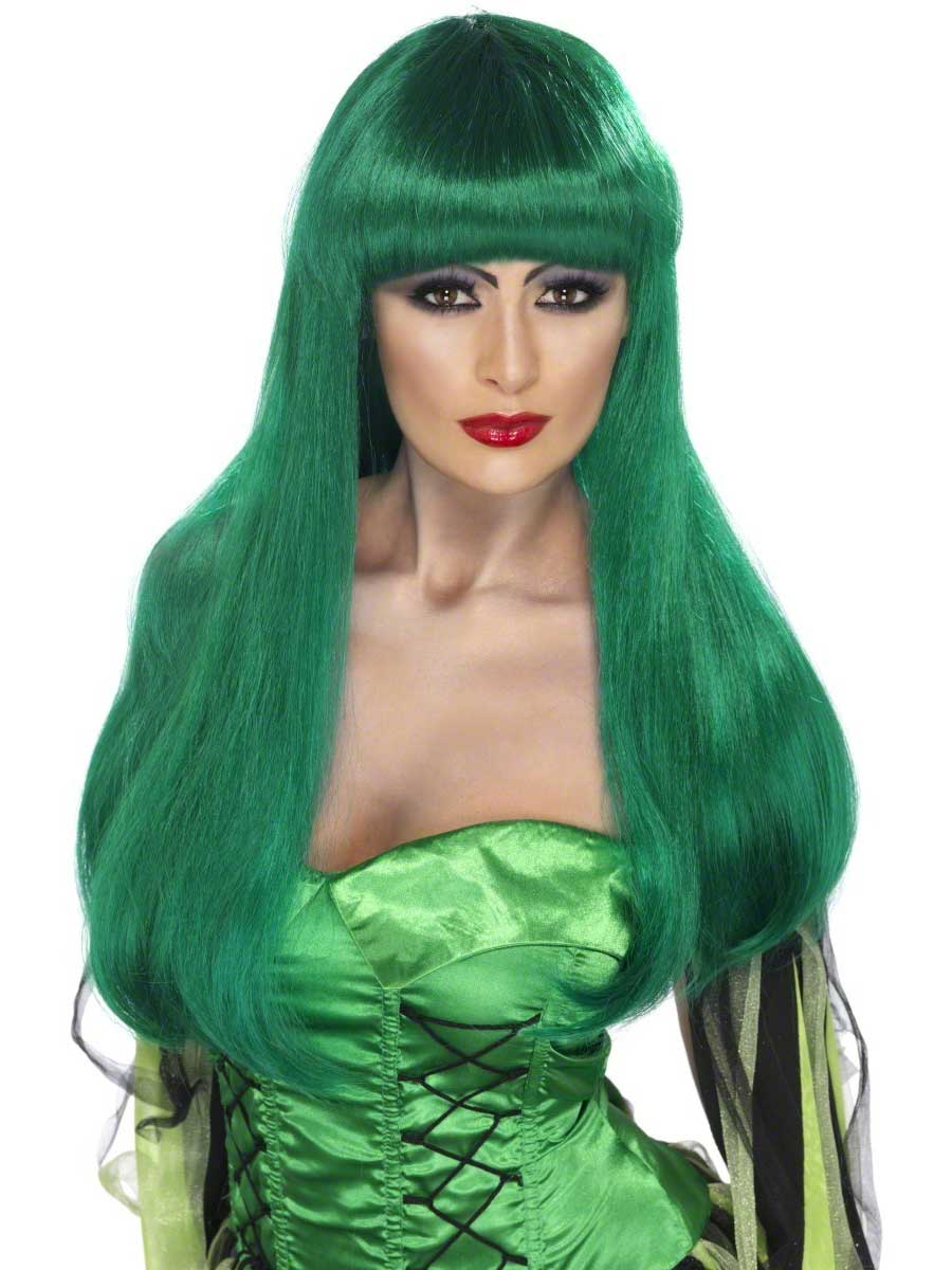 Witch Green Wig 66