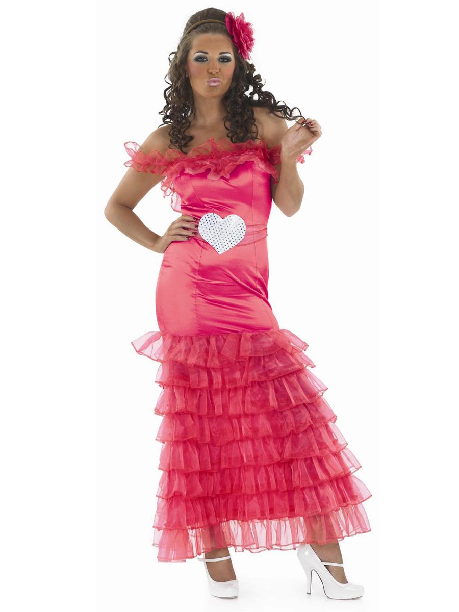 Adult Gypsy Wedding Pink Bridesmaid Costume