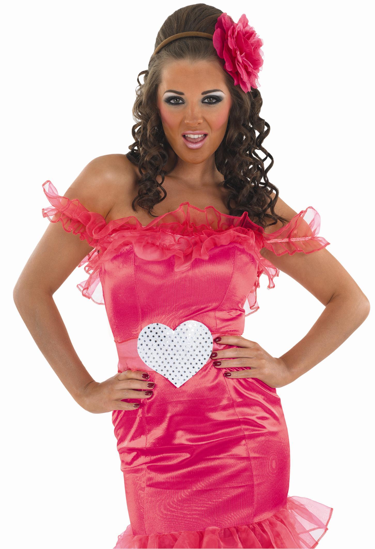 Adult Gypsy Wedding Pink Bridesmaid Costume FS3238