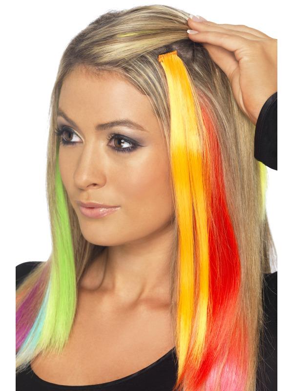 Hair Extensions Neon Purple 20463 Fancy Dress Ball