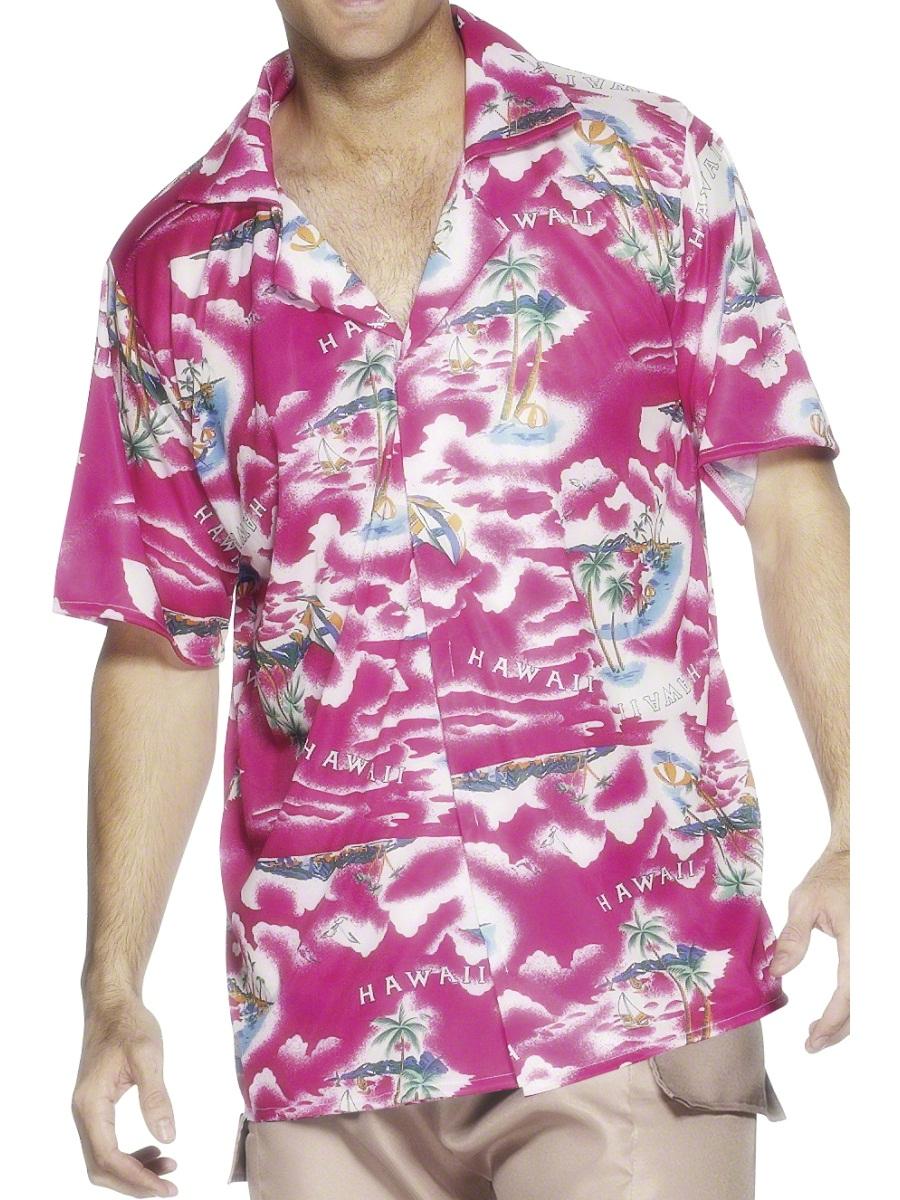 Hawaiian shirt pink 22591 fancy dress ball for Hawaiian shirt fancy dress