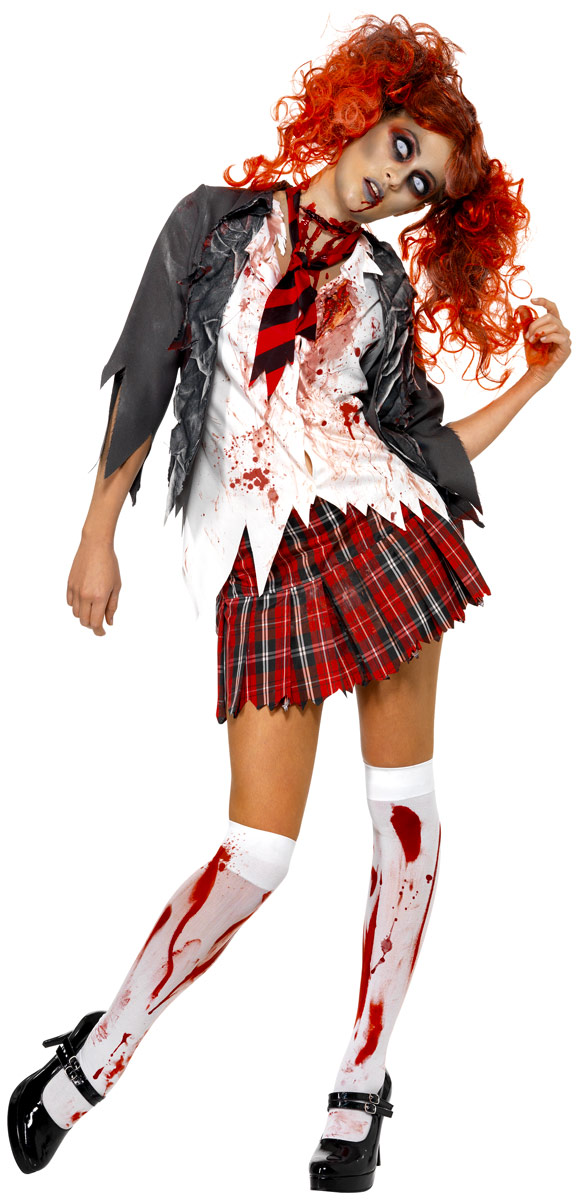 Adult Zombie School Girl Costume - 32929 - Fancy Dress Ball